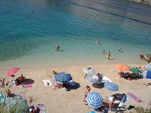 beach pudarica island rab